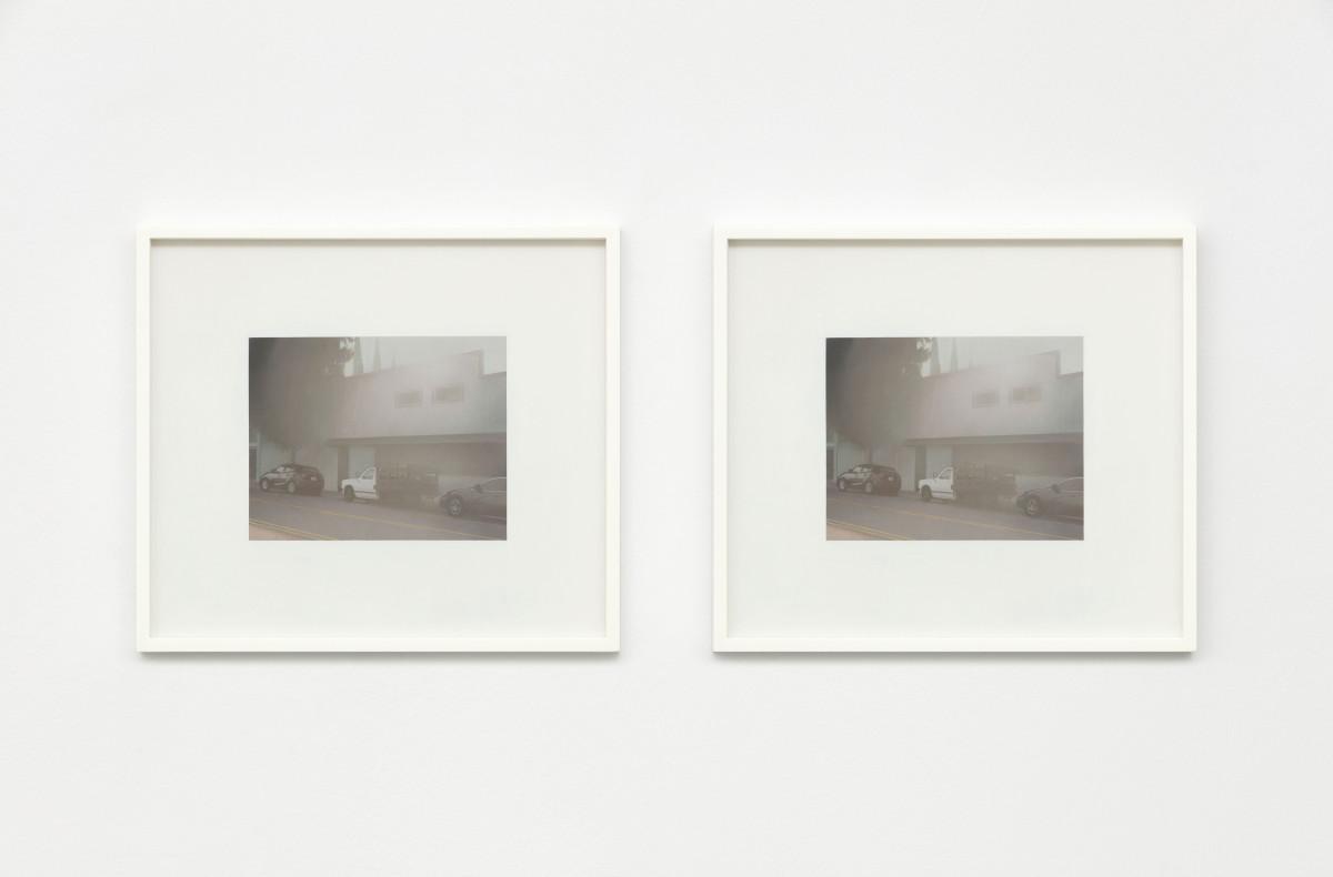 Andrew Grassie Street 1, Street 2, 2020 Tempera on paper on board 14,8 x 18,8 cm (5 1/2 x 7 1/8 in) (image) each, 2 parts 31,1 x 35,2 x 3 cm (12 1/4 x 13 3/4 x 1 1/8 in) (framed) each, 2 parts