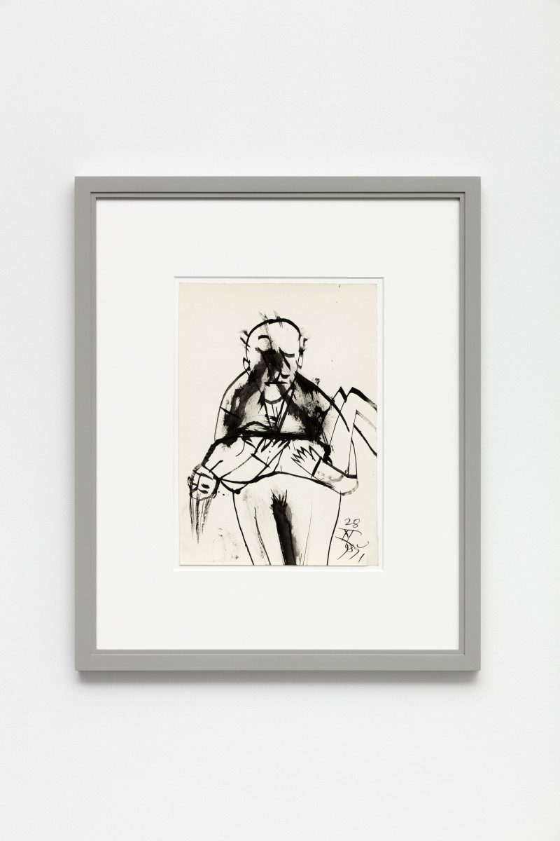 Florin Mitroi 28.XI.985, 1985 India ink on paper 32,5 x 23 cm (unframed) 56,8 x 46,8 x 2,8 cm (framed) Dated