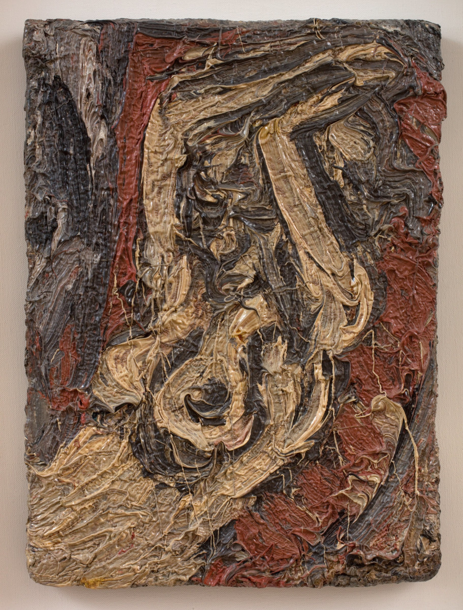 <div class=&#34;artist&#34;><strong>Leon Kossoff</strong></div><div class=&#34;title_and_year&#34;><em>Fidelma with Raised Arms</em>, 1981</div><div class=&#34;medium&#34;>Oil on board</div><div class=&#34;dimensions&#34;>42.5 x 31 cm<br/> 16 3/4 x 12 1/4 in<br/> <br/> Framed: 66.2 x 54.8 x 5.6cm</div>