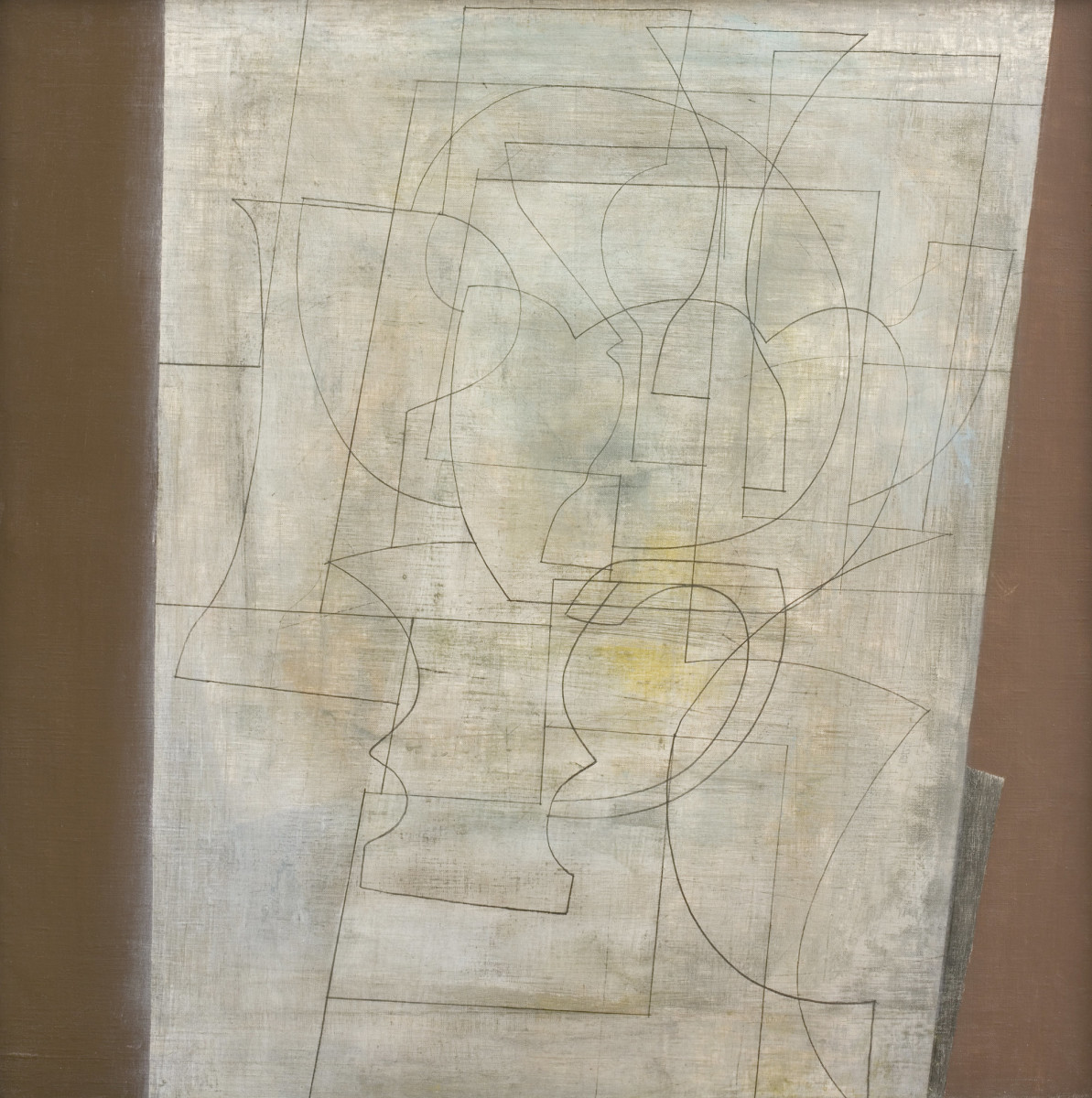 "<div class=""artist""><strong>Ben Nicholson</strong></div><div class=""title_and_year""><em>May 1955 (Green Chisel)</em>, 1955</div><div class=""medium"">Oil and pencil on canvas</div><div class=""dimensions"">61 x 61 cm<br/> 24 1/8 x 24 1/8 in</div><div class=""signed_and_dated"">Signed and titled verso 'Ben Nicholson May 1955 (Green Chisel)'</div>"