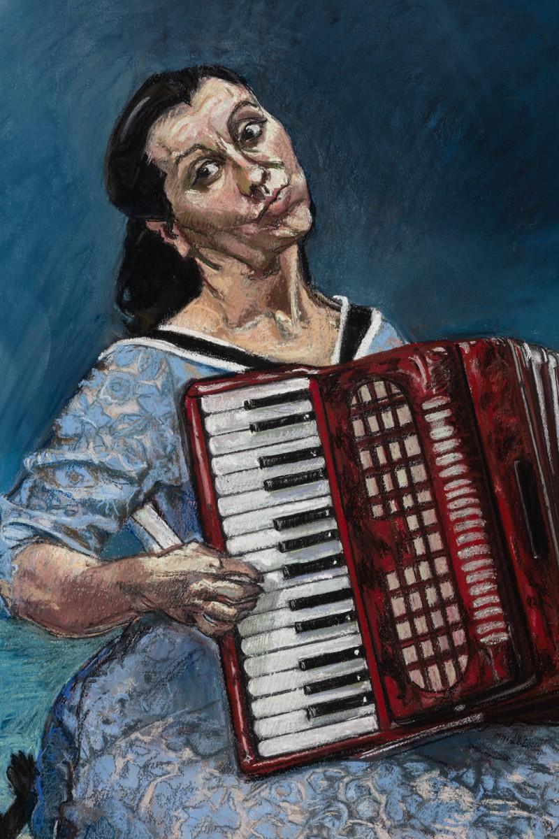Detail: Paula Rego, La Fête, 2003, pastel on paper mounted on aluminum, 170 x 120 cm (66 7/8 x 47 1/4 in). Photo © Andrea Rossetti