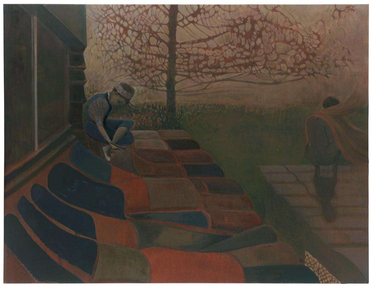 Sarah Buckner, Midnight, 2021, oil on linen, 130 x 170 cm (51 1/8 x 66 7/8 in). Photo © Andrea Rossetti