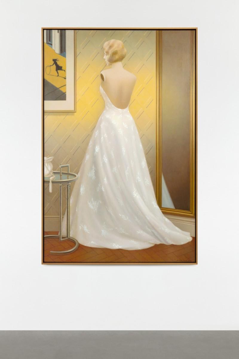 Almut Heise, Schaufenster, 2016, oil on canvas, 150,2 x 100,3 cm (59 1/8 x 39 3/8 in) (unframed), 153 x 103 x 5 cm (60 1/4 x 40 1/2 x 2 in) (framed). Photo © Andrea Rossetti