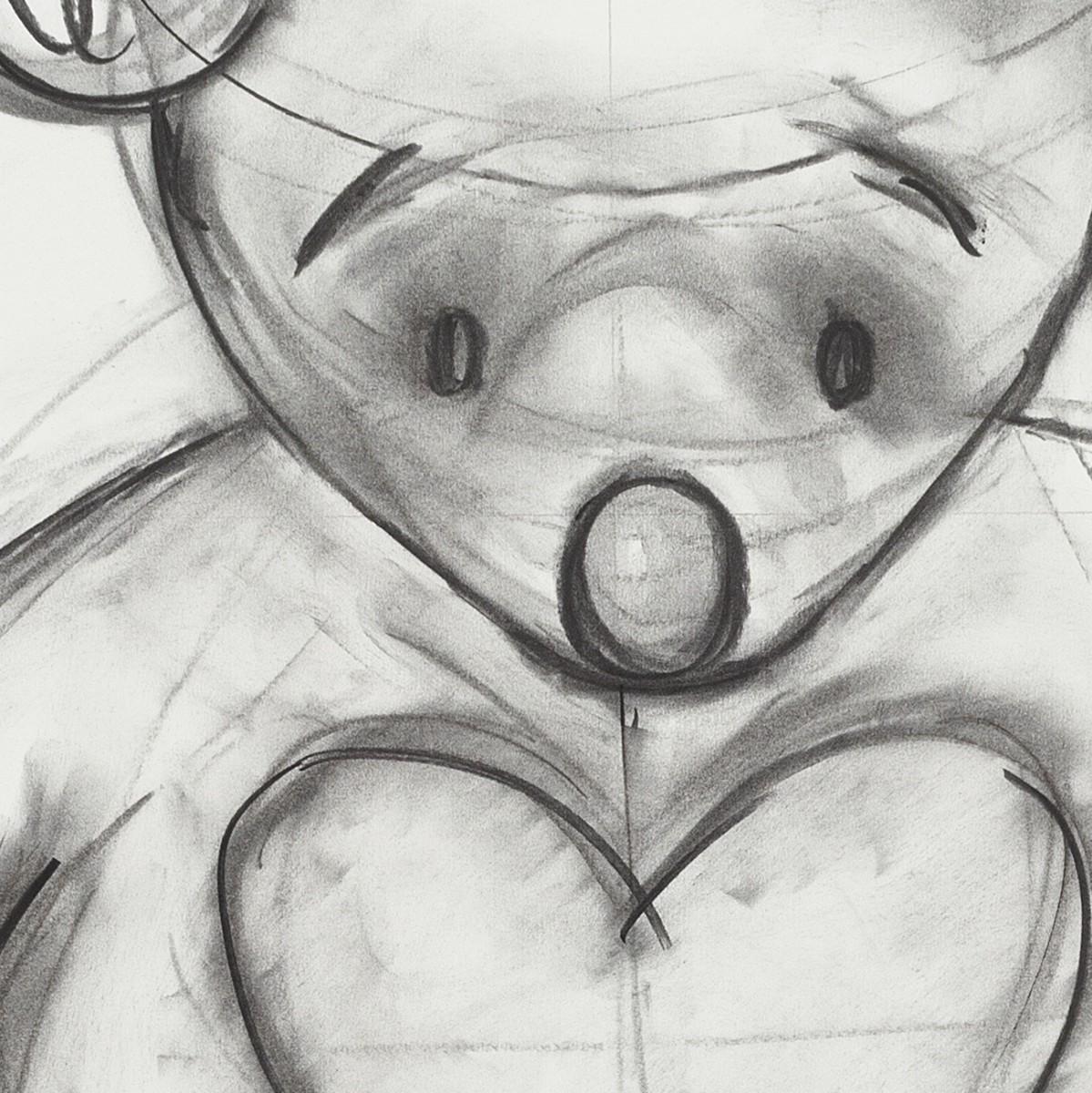 Details: Simon Fujiwara, Who is Who? (Binary Sex Selection), 2021, charcoal, acrylic, pencil and inkjet print on paper, 70 x 100 cm (27 1/2 x 39 3/8 in) (unframed), 107 x 77 x 3,5 cm (42 1/8 x 30 1/4 x 1 3/8 in) (framed). Photo © CHROMA