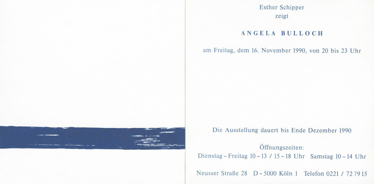 Original exhibition invitation (front and back)