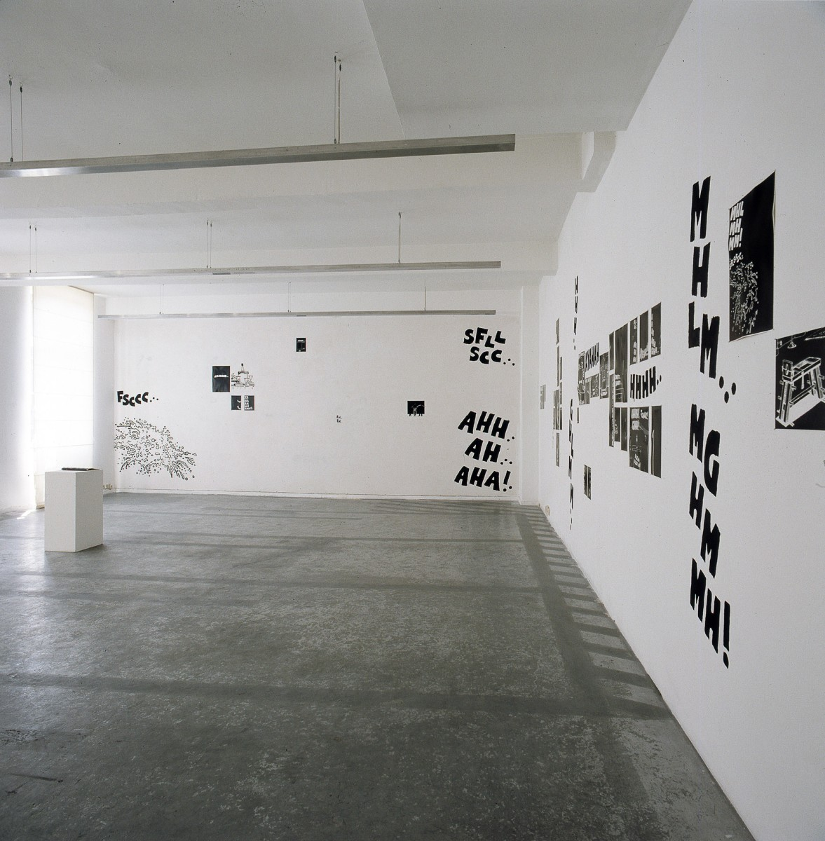 Exhibition view: MHLM...MGHMMH!, Esther Schipper, Cologne, 1992. Photo © Lothar Schnepf