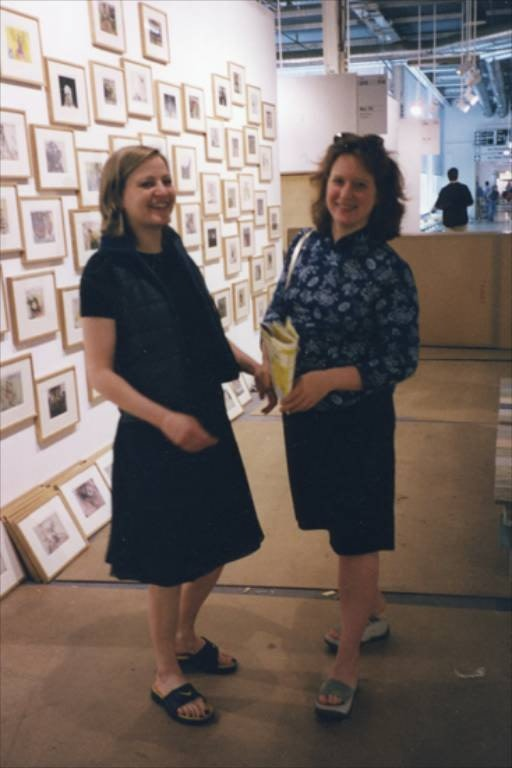 Angela Bulloch and Esther Schipper at Art Basel, 1999. Photo © Andrea Rosen