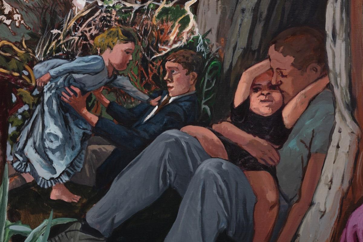 Detail: Paula Rego, Caritas, 1993, acrylic on canvas, 200 x 240 cm (78 3/4 x 94 1/2 in). Photo © Andrea Rossetti