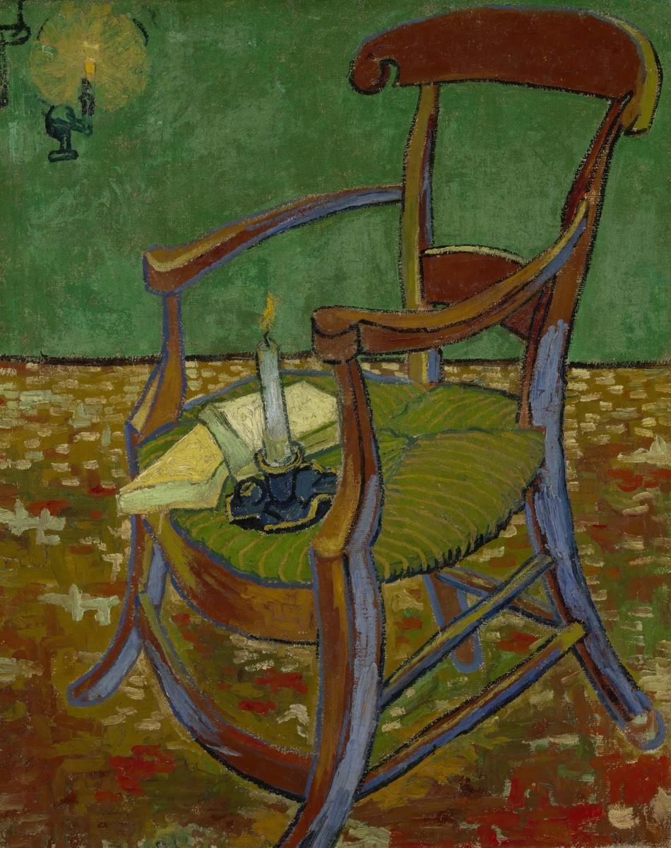 Vincent van Gogh, Gauguin's Chair, 1888, Van Gogh Museum, Amsterdam. Photo © Van Gogh Museum, Amsterdam (Vincent van Gogh Foundation).