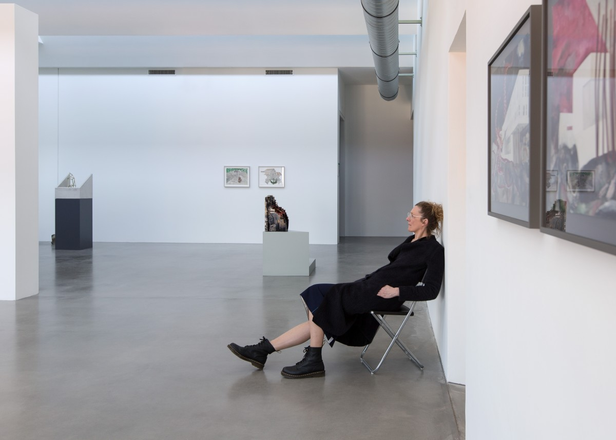 Isa Melsheimer in her exhibition at KINDL – Centre for Contemporary Art, Berlin, 2020. Photo © Oliver Mark