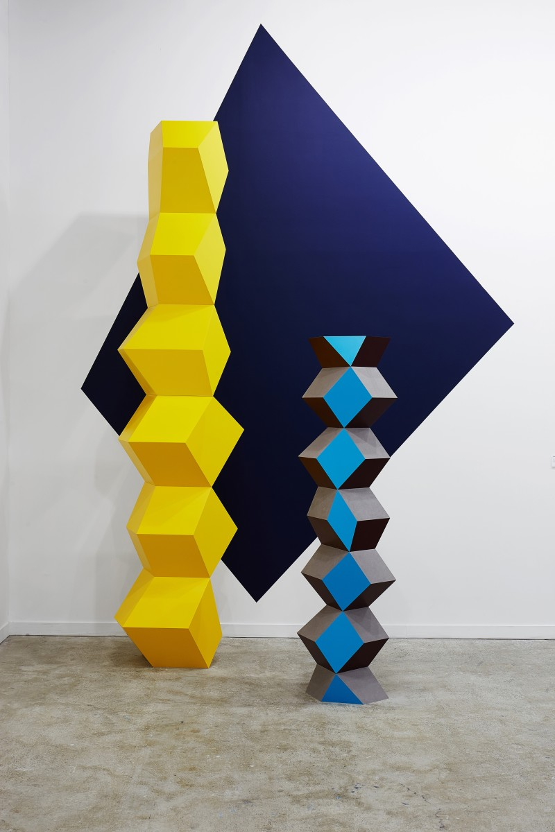 Angela Bulloch Can Cut Yolk, 2016 Painted MDF 300 x 79 x 50 cm approx.