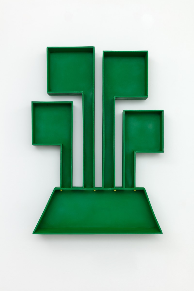 Jean-Pascal Flavien greenhouse, 2019 Painted cast aluminum, pushpins 73 x 53 x 19 cm (28 3/4 x 20 7/8 x 7 1/2 in)