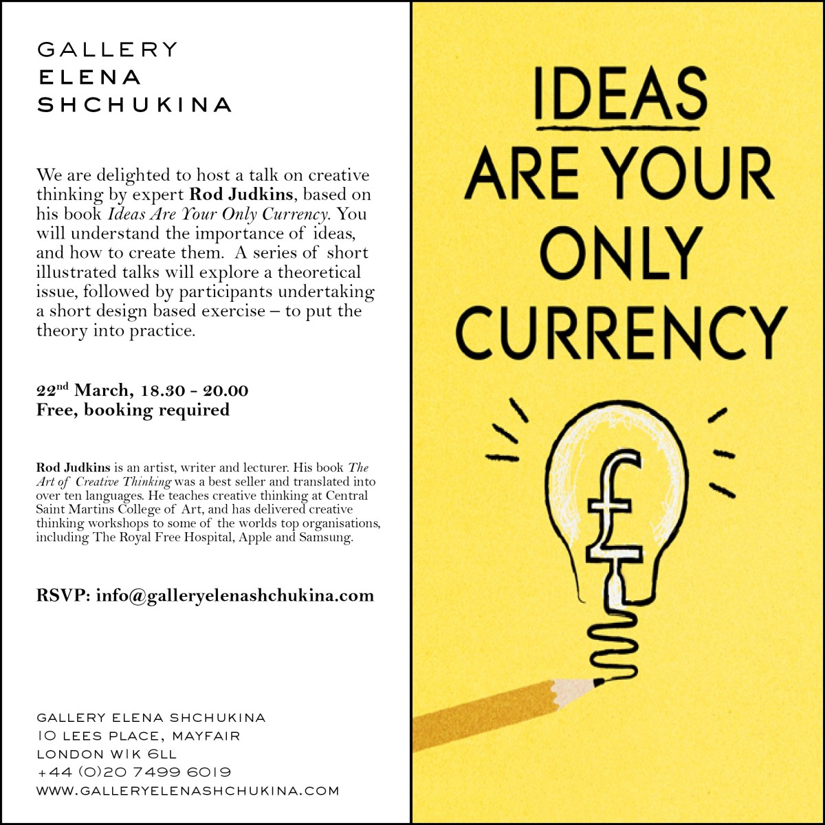 Talk: Ideas Are Your Only Currency by Rod Judkins | Gallery