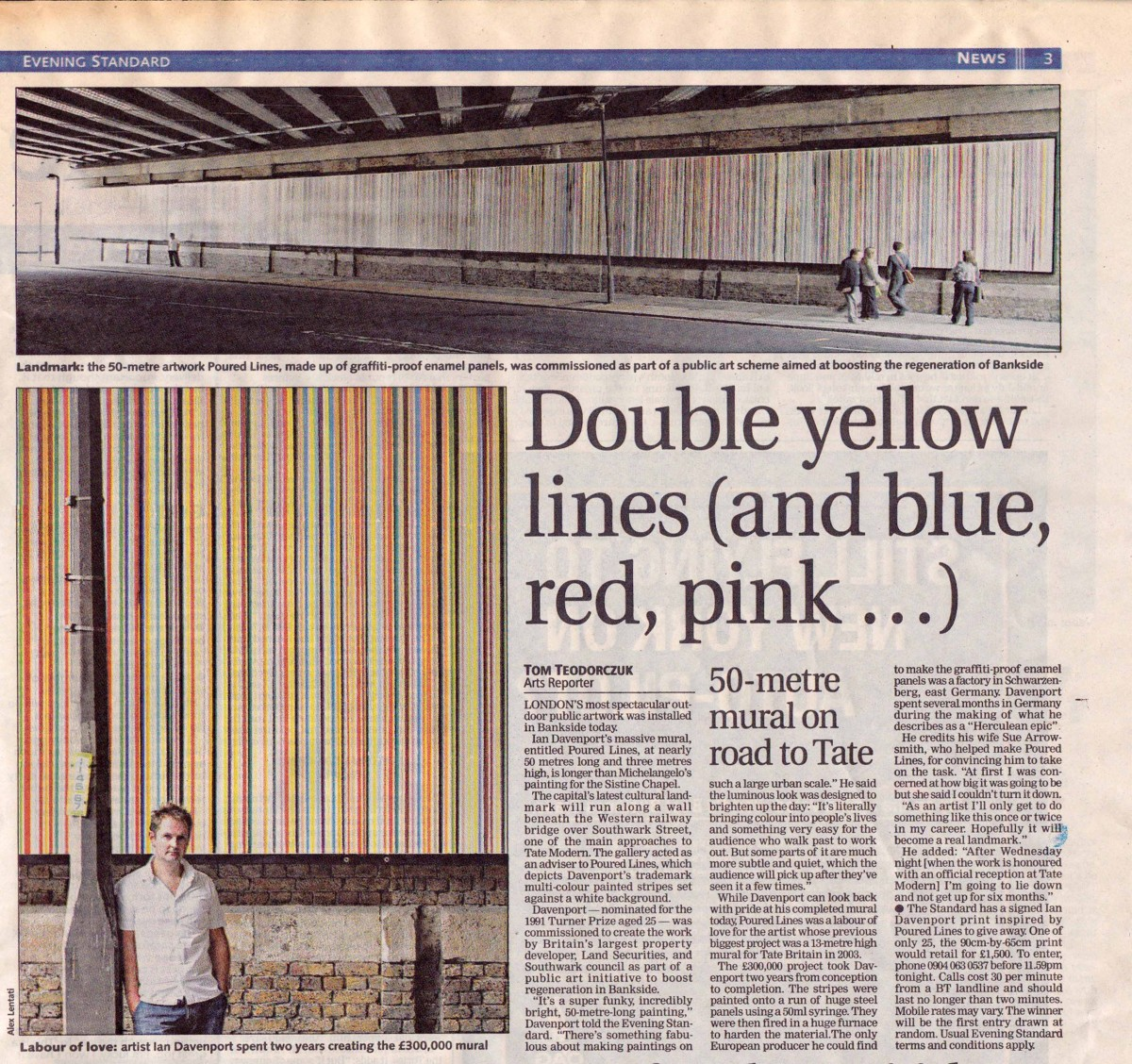 Double yellow lines (and blue, red, pink...)