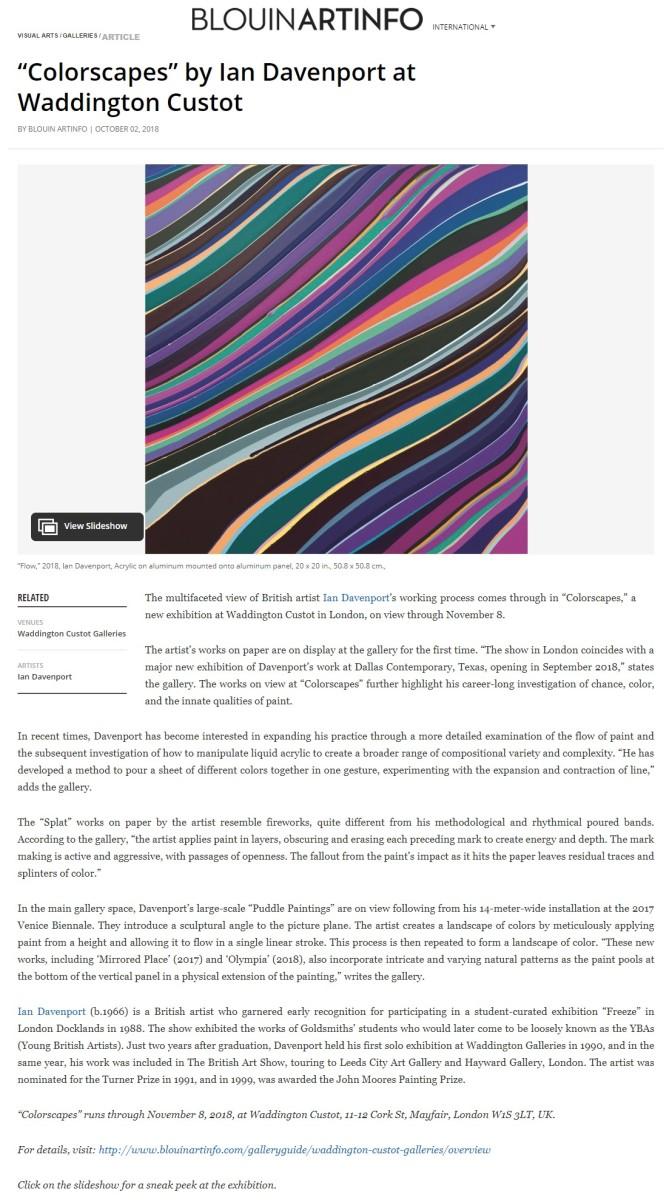 'Colourscapes' by Ian Davenport at Waddington Custot