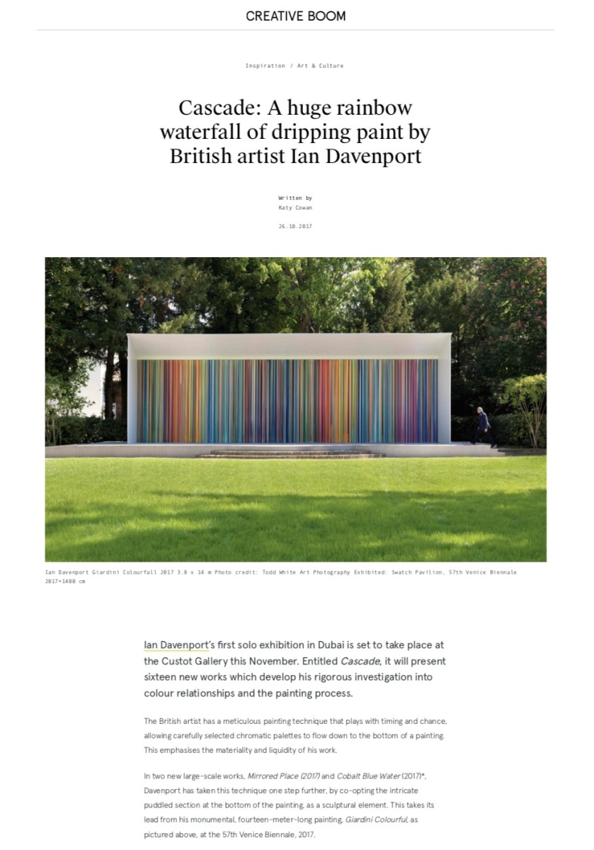 Cascade: A huge rainbow waterfall of dripping paint by British artist Ian Davenport part 1
