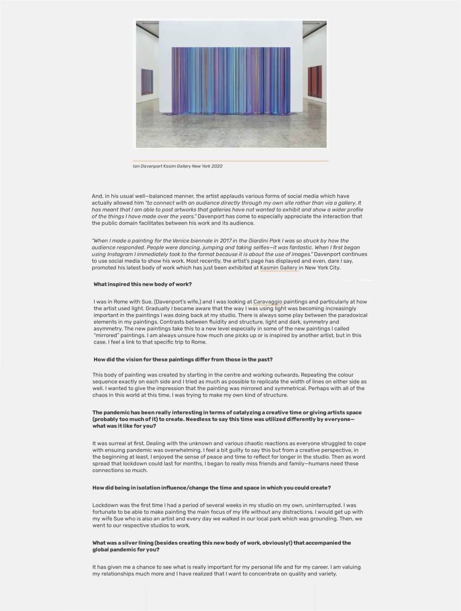 Ian Davenport and the Inspiration of Rome Part 2