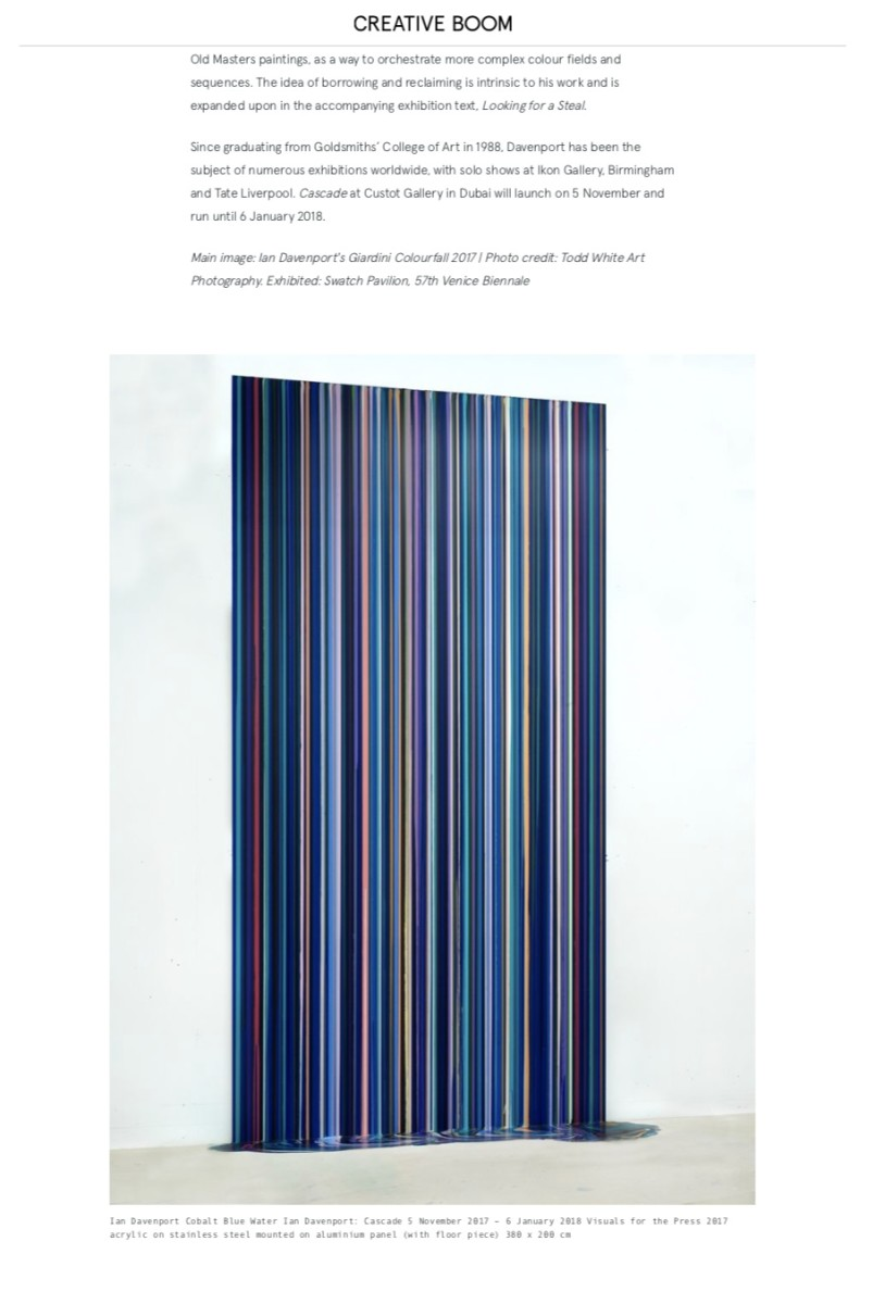 Cascade: A huge rainbow waterfall of dripping paint by British artist Ian Davenport part 2
