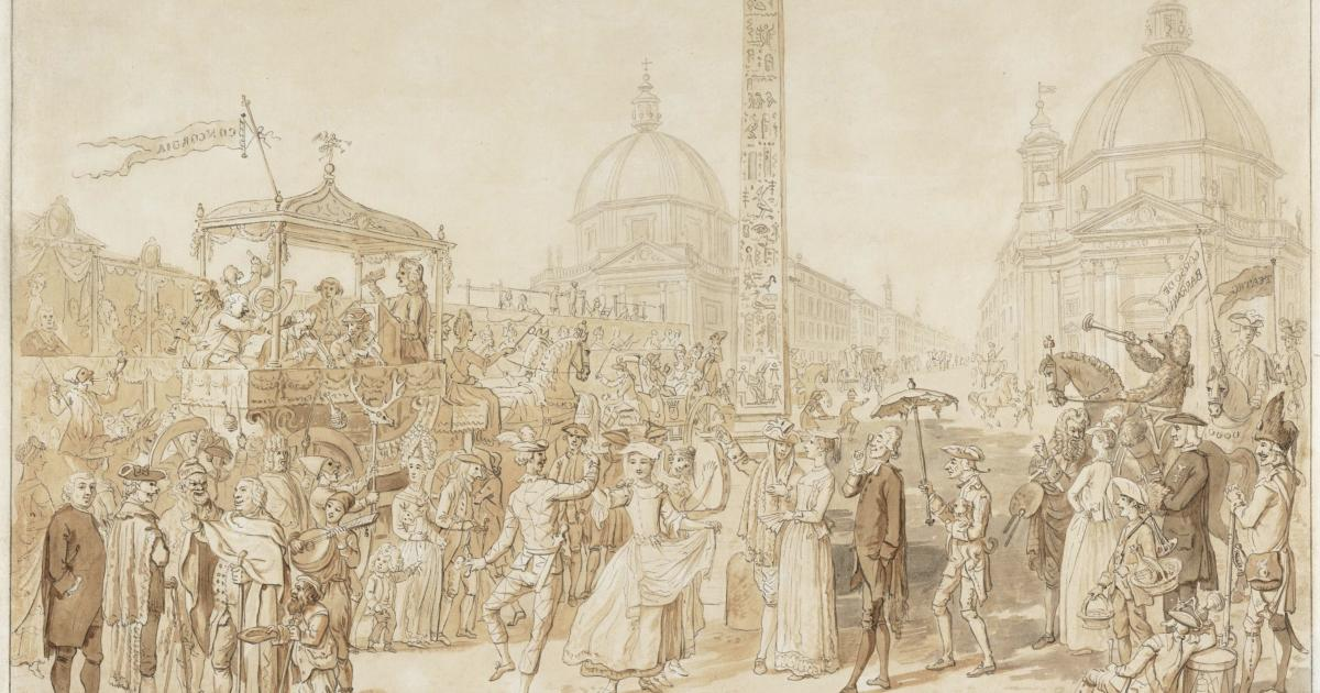 DAVID ALLAN, The Carnival At Rome: The Piazza Del Popolo