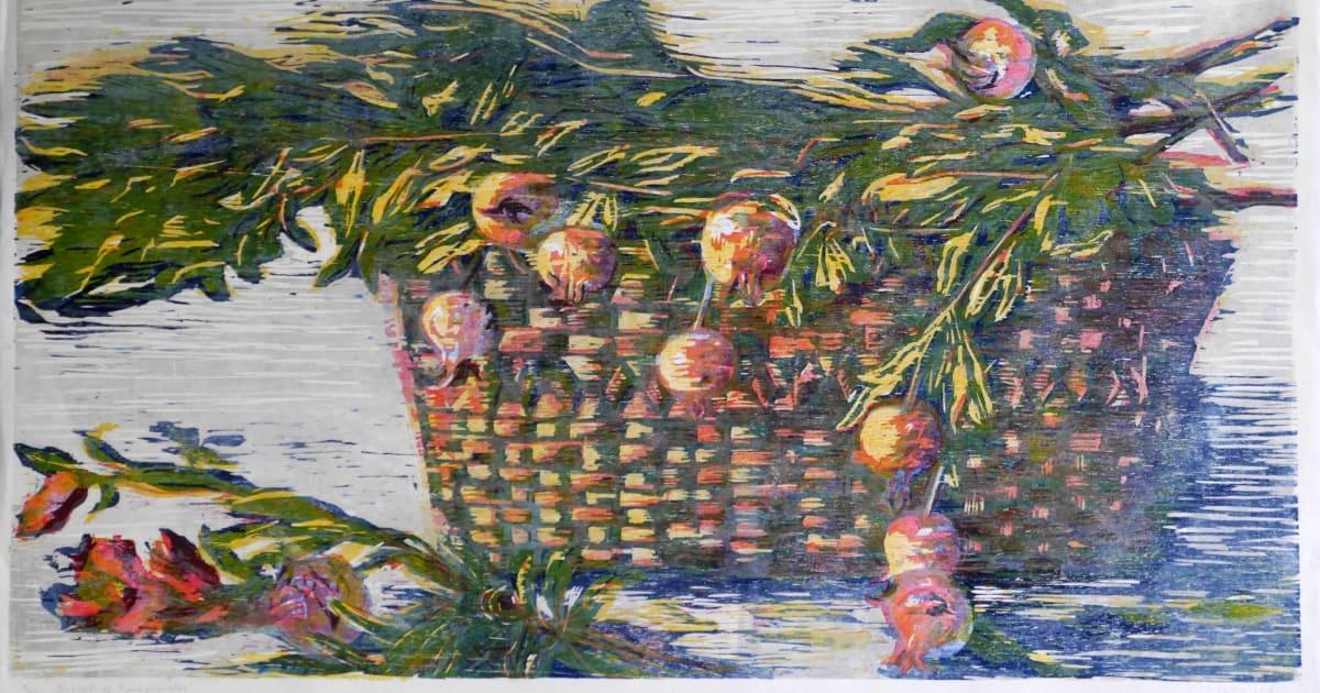 Hilary Daltry Re Basket Of Pomegranates Bankside Gallery