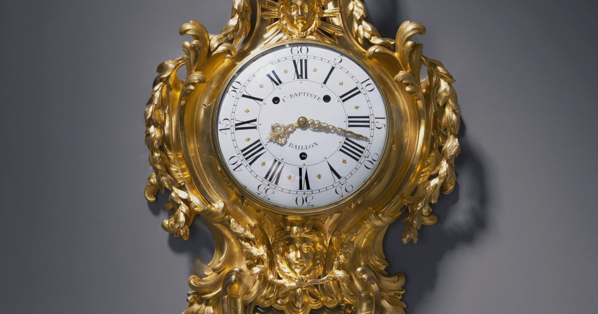 Jean Baptiste Baillon Iii A Louis Xv Cartel Clock By Jean