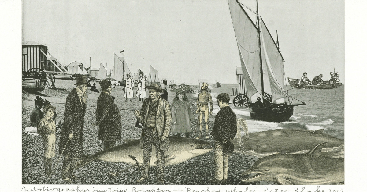 Peter Blake, Autobiography  'Day Trips, Brighton ' - 'Beached Whales