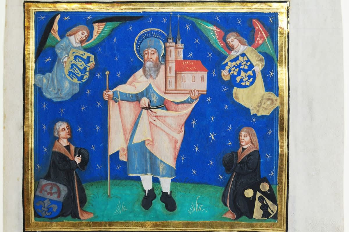 St. Sebald with donors dd 1502