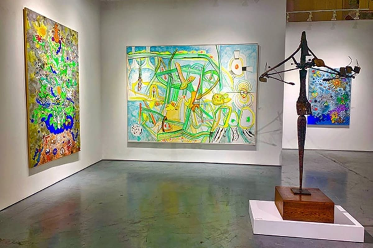 """Works by Federica Matta and Roberto Matta in the """"Two Generations"""" exhibition"""