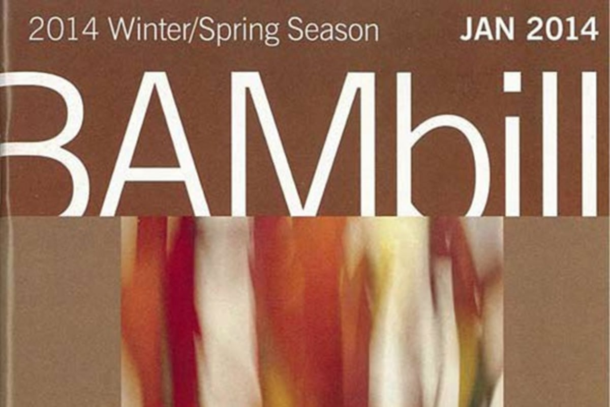 """The BAMbill January 2014 cover featuring Bill Beckley's """"I'm Prancing"""" Cibachrome photograph"""