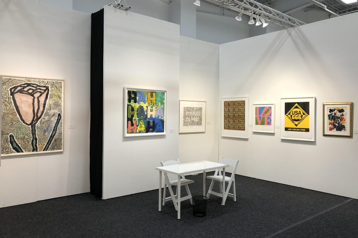 Rosenbaum Contemporary's booth at Art on Paper 2018