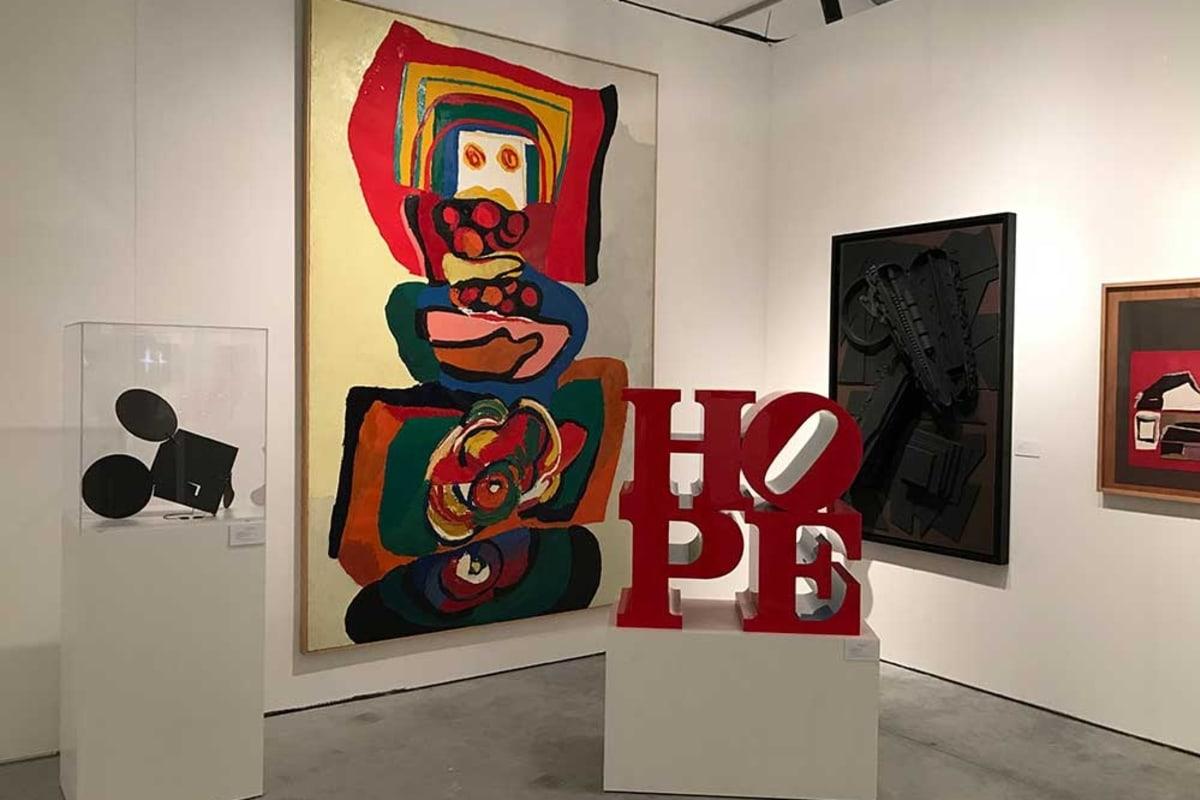 Rosenbaum Contemporary's Art Miami 2018 fair booth