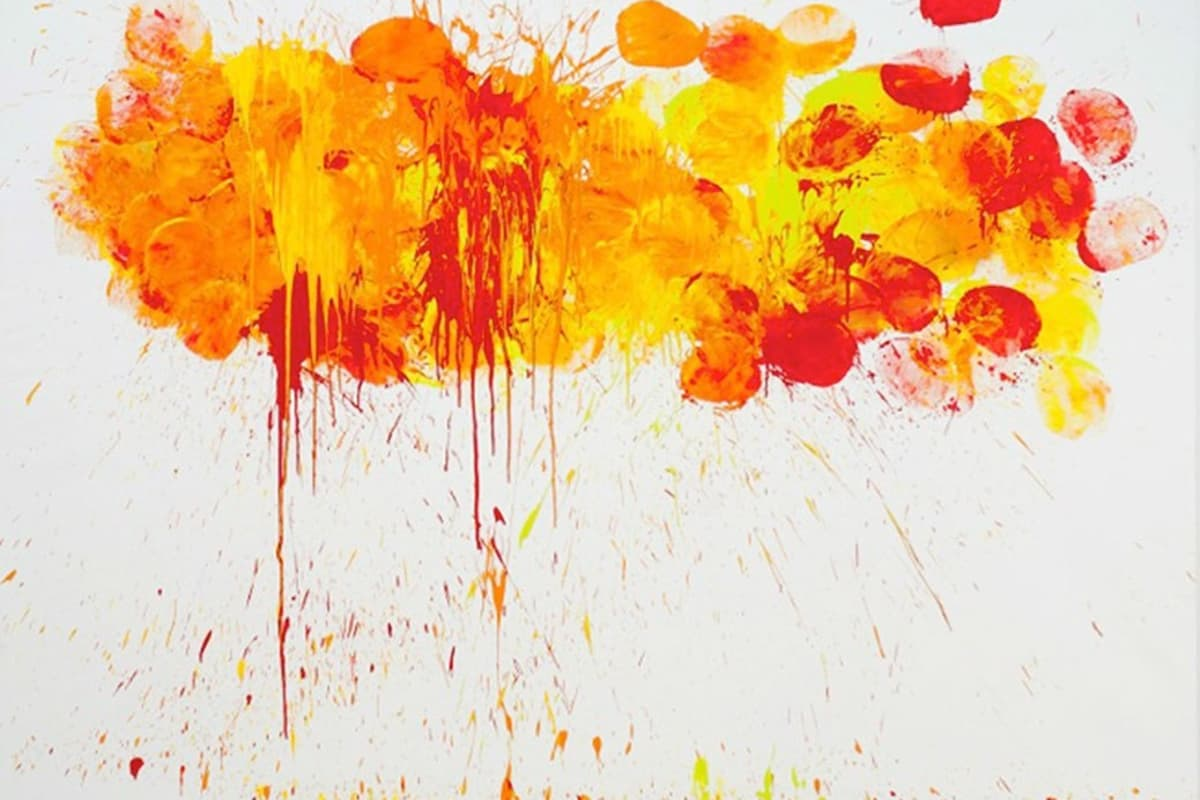"Omar Hassan's ""Breaking Through #8"" mixed media artwork"