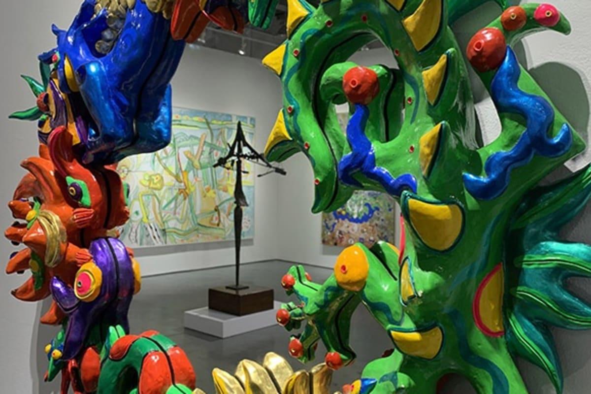 """Roberto Matta's """"Morphologie de l'ame"""" and """"L'Impensable"""" reflected in Federica Matta's """"Siren's Mirror"""""""