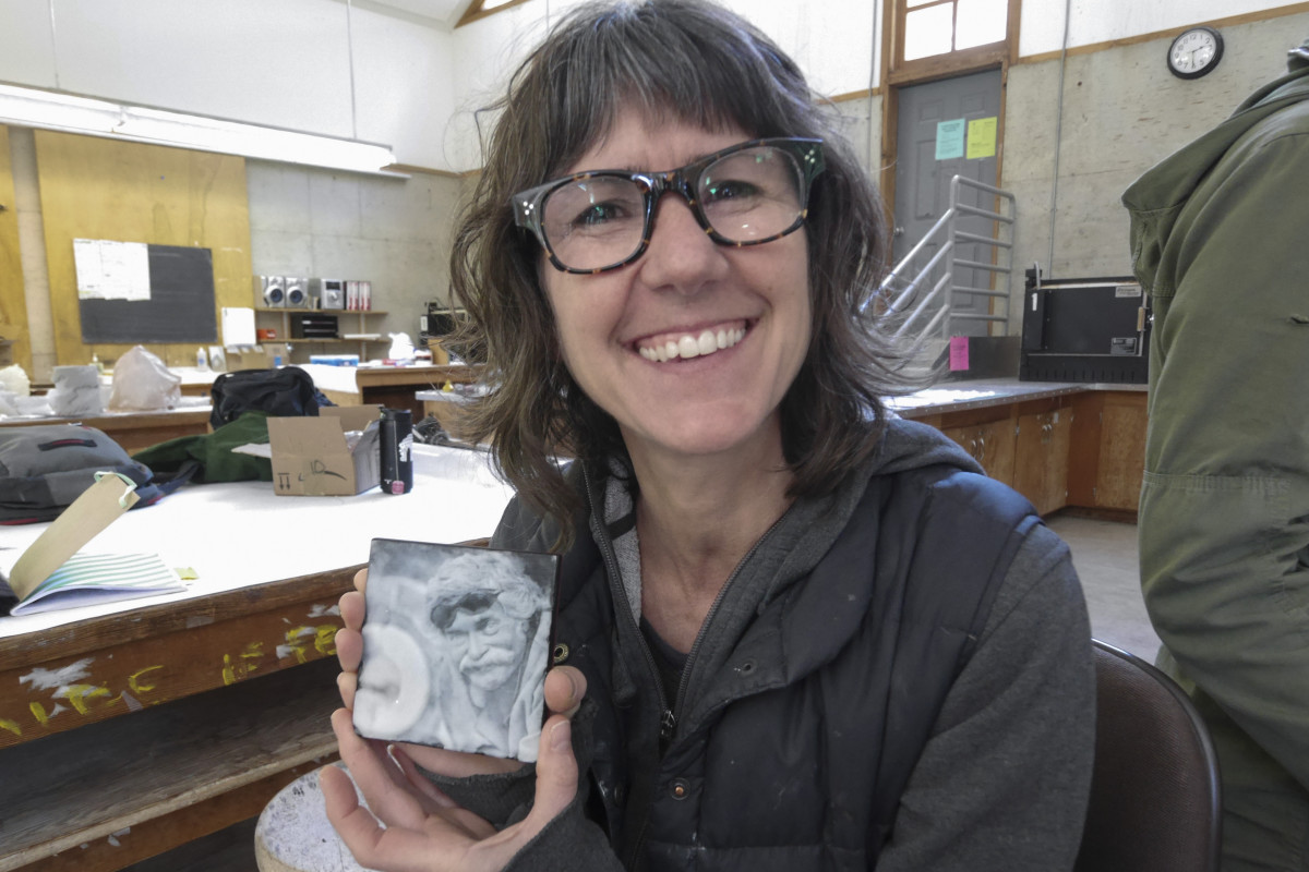 Heidi Schwegler attends Digital Clayground workshop at Pilchuck Glass School