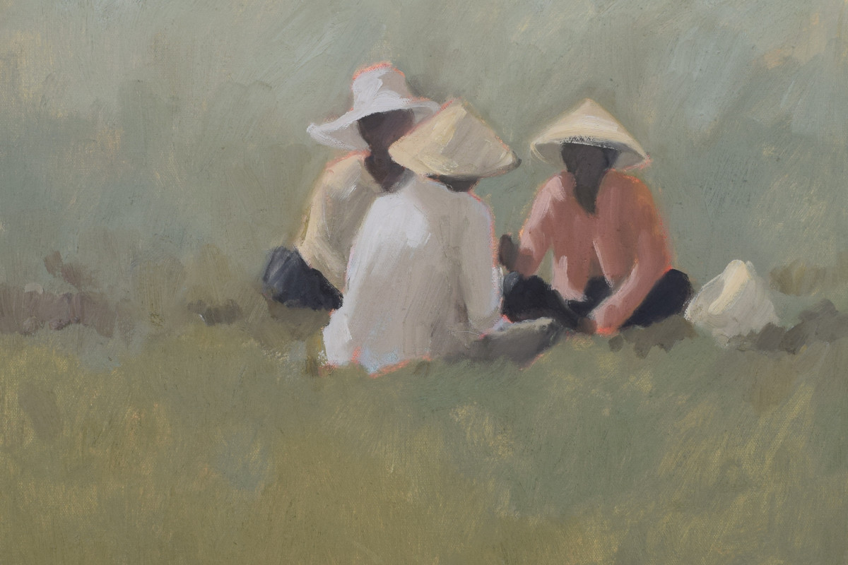 Teatime (detail), oil on canvas, 40 x 50 cms
