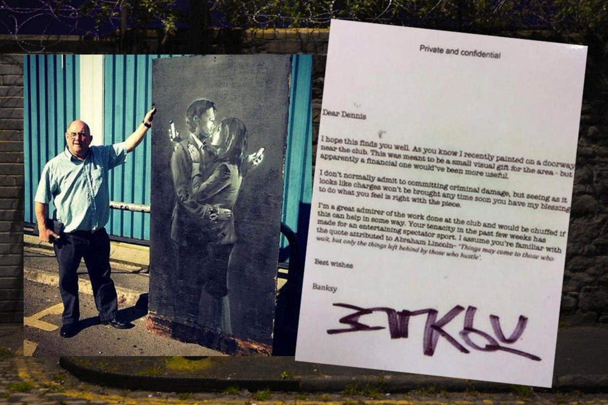 The story of the only illegal street work that Banksy has ever officially authenticated....