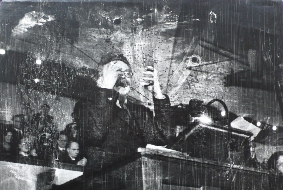 <div class=&#34;artist&#34;><strong>Robert Capa</strong></div><div class=&#34;title_and_year&#34;><em>Leon Trotsky lecturing in Copenhagen, Denmark, November, 1932</em></div><div class=&#34;medium&#34;>Silver gelatin print, printed c 1960's</div><div class=&#34;dimensions&#34;>24 x 35 cm</div><div class=&#34;signed_and_dated&#34;>Titled in black ink on verso, various annotations in black ink on verso.</div>