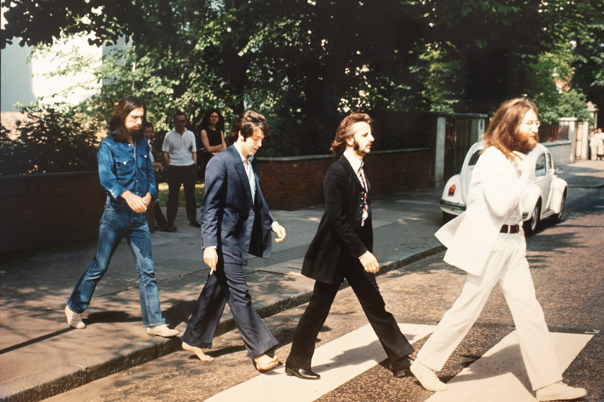 """<div class=""""artist""""><strong>Linda McCartney</strong></div><div class=""""title_and_year""""><em>The Beatles, Abbey Road, London, 1969</em>, 2011</div><div class=""""medium"""">C-type print, framed in dark wood frame with anti-reflective glass</div><div class=""""dimensions"""">Paper Size: 122 x 183 cm</div><div class=""""edition_details"""">Edition 1/3</div><div class=""""signed_and_dated"""">Signed by Paul McCartney. Accompanied by a signed, titled, editoned Certificate of Authenticity by Mary McCartney</div>"""