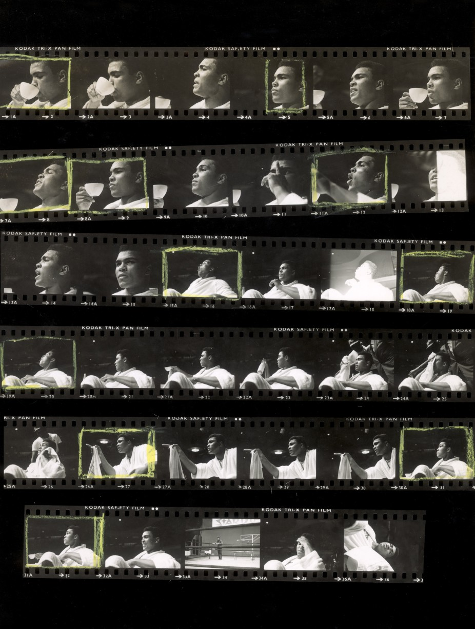 Tea with Ali (contact sheet), 1965