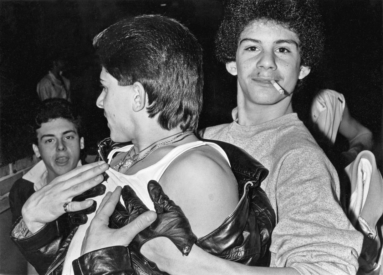 Boys fooling around, c1980