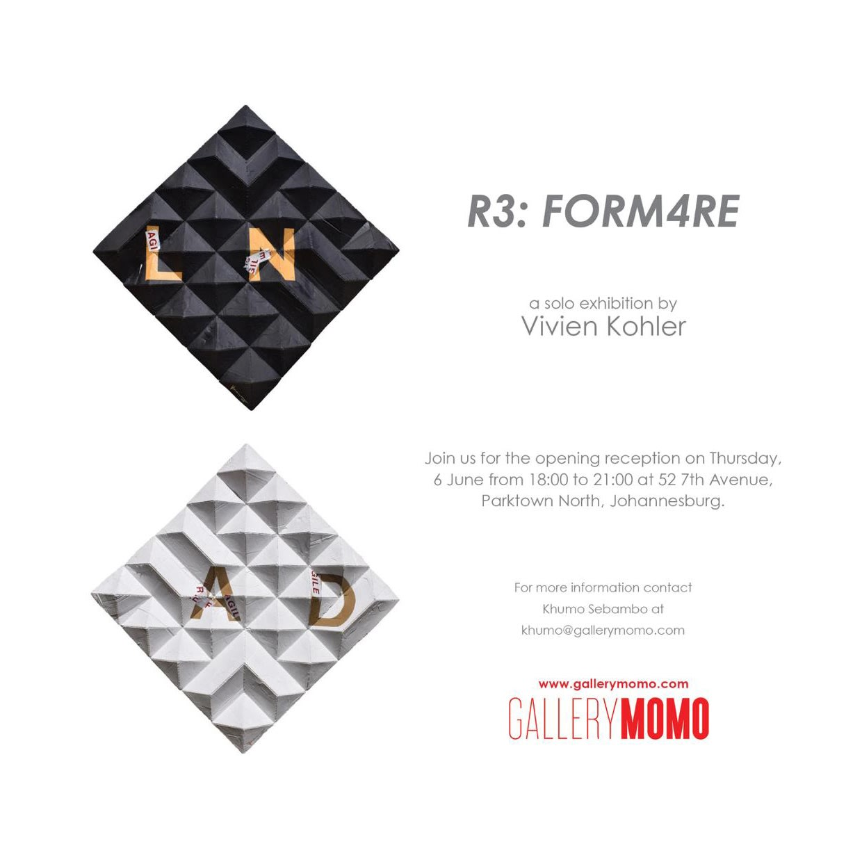 'r3: FORM4re' Solo Exhibition by Vivien Kohler at Gallery MOMO