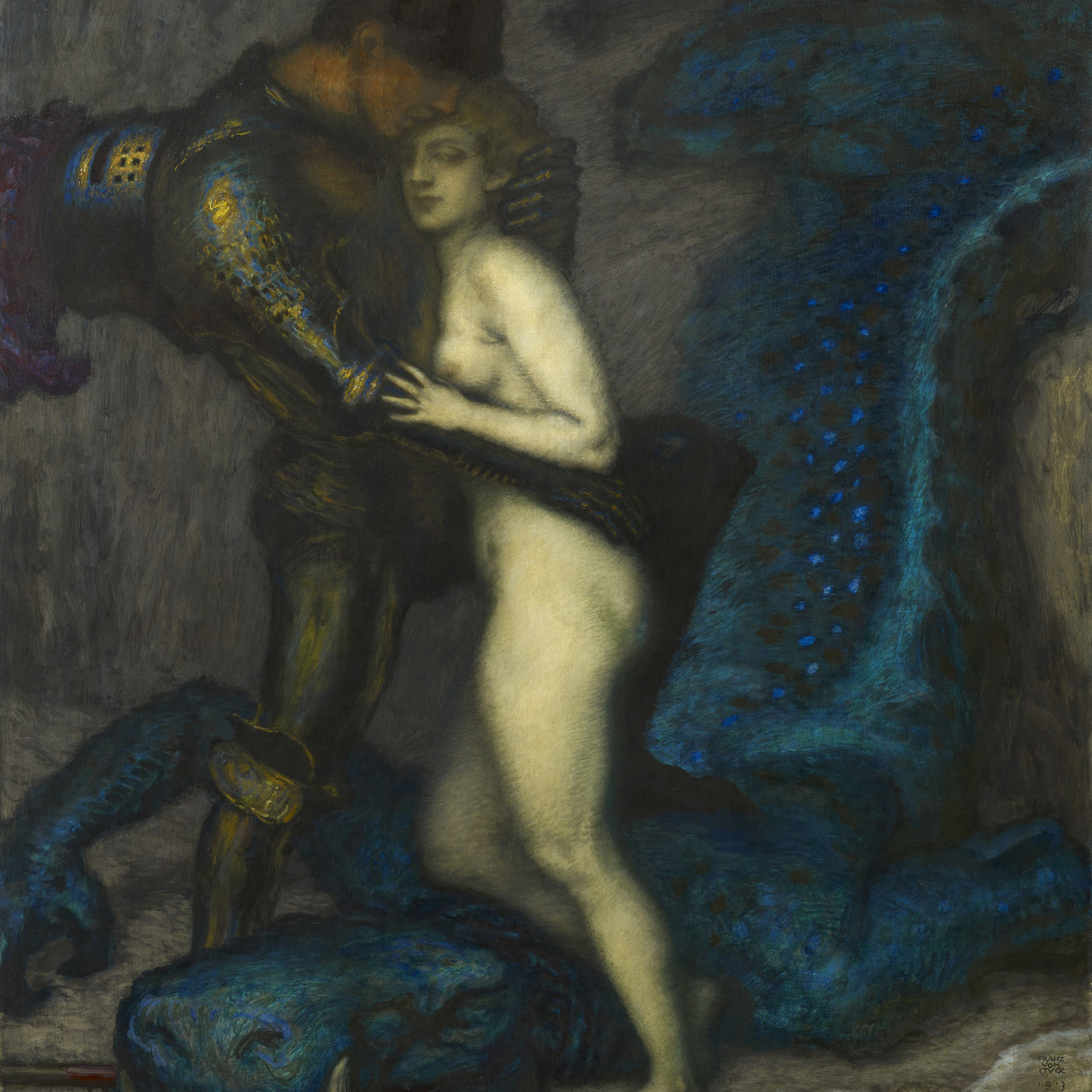 Franz Von Stuck, Der Drachentöter (The Dragon Slayer)