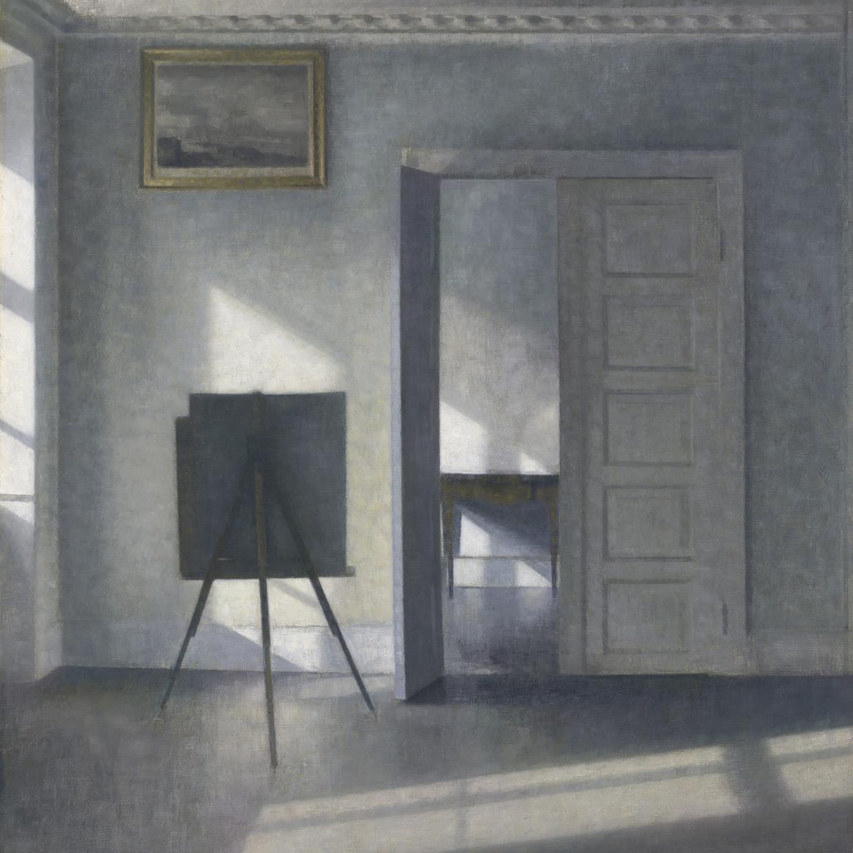 Vilhelm Hammershøi, Interior with an Easel, Bredgade 25