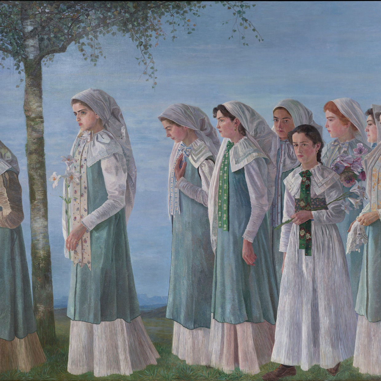 Karl Mediz, Sunday Procession of Gottscheer Women