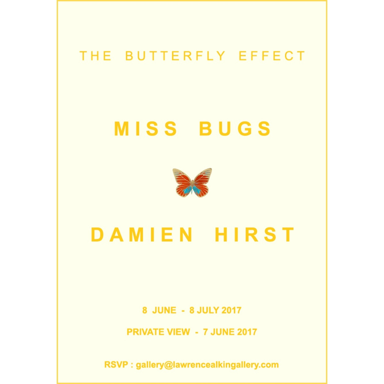 The Butterfly Effect: Miss Bugs x Damien Hirst