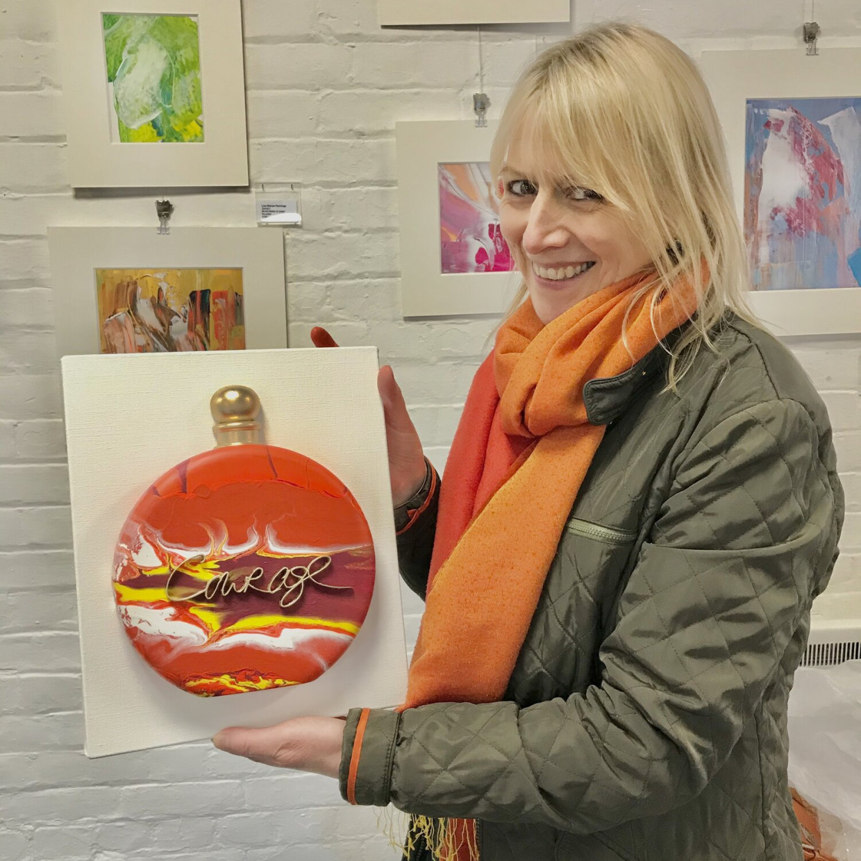 Exhibition interview with Lisa Sharpe whilst exhibiting at The Nutshell, Winchester
