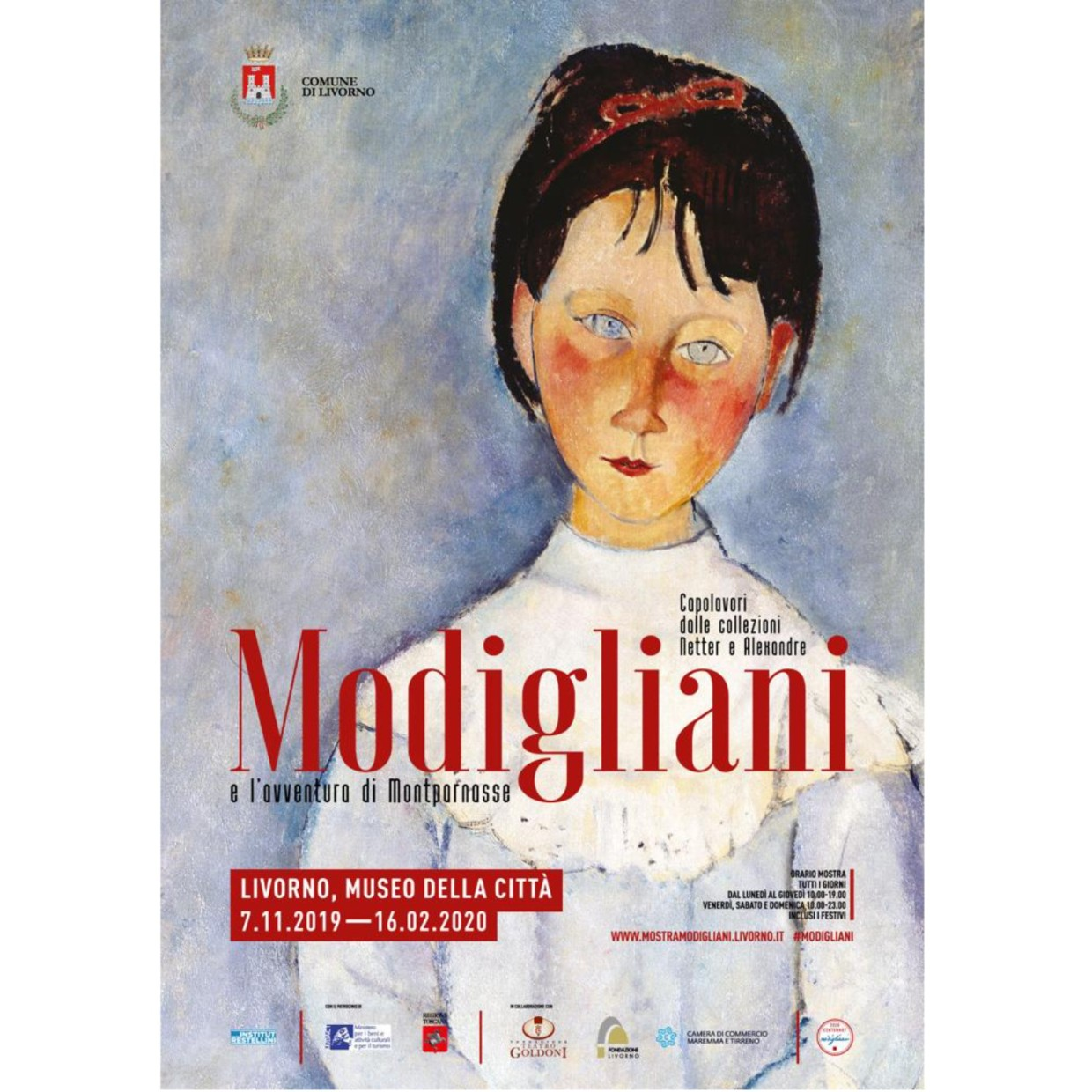 Modigliani and the Montparnasse adventure | Masterpieces from the Netter and Alexandre Collections Museo della Città, Livorno, Italy.
