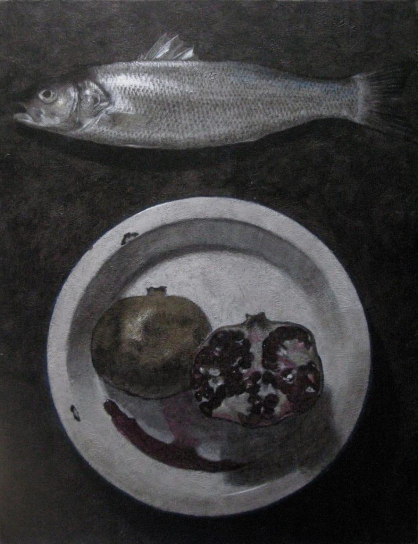 Bass & pomegranate