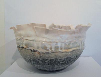 Fragile landscape, silver crystal glaze