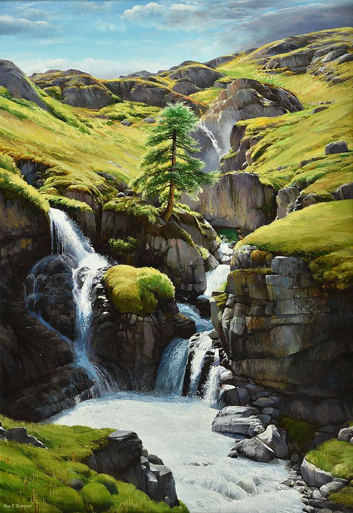 Waterfalls in the Italian Alps